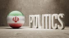 Iran. Politics Concept. Stock Illustration