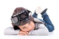 Young boy dream Stock Photos