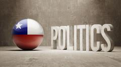 Chile. Politics Concept. Stock Illustration