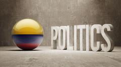 Colombia. Politics Concept. Stock Illustration