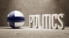 Finland. Politics Concept. - stock illustration