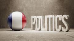 France. Politics Concept. Stock Illustration