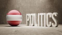 Austria. Politics Concept. Stock Illustration