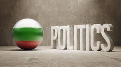 Bulgaria. Politics Concept. - stock illustration