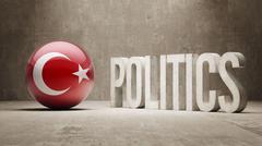 Turkey. Politics Concept. Stock Illustration