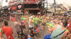 Songkran water festival thailand - stock footage