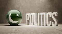 Pakistan. Politics Concept. - stock illustration