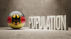 Germany. Population Concept. - stock illustration