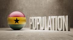 Stock Illustration of Ghana. Population Concept.