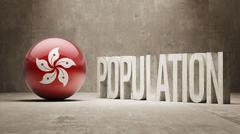 Hong Kong. Population Concept. - stock illustration