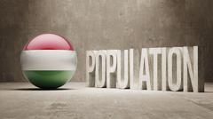 Stock Illustration of Hungary. Population Concept.
