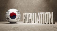 South Korea. Population Concept. - stock illustration
