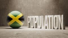 Stock Illustration of Jamaica. Population Concept.