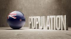 New Zealand. Population Concept. - stock illustration