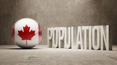 Stock Illustration of Canada. Population Concept.