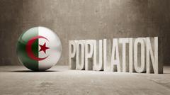 Algeria. Population Concept. - stock illustration
