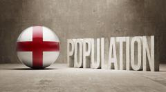 England. Population Concept. - stock illustration