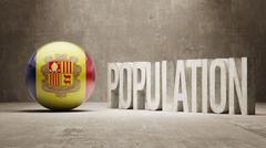Andorra. Population Concept. - stock illustration