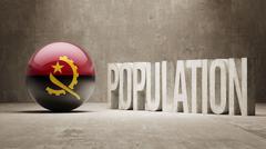 Stock Illustration of Angola. Population Concept.