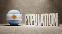 Argentina. Population Concept. - stock illustration