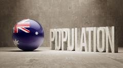 Australia. Population Concept. - stock illustration