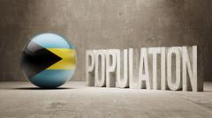 Bahamas. Population Concept. - stock illustration