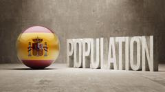 Spain. Population Concept. - stock illustration