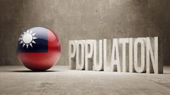 Stock Illustration of Taiwan. Population Concept.