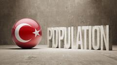 Turkey. Population Concept. - stock illustration