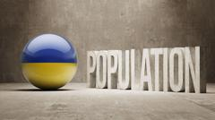 Ukraine. Population Concept. - stock illustration
