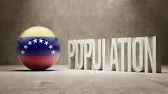 Venezuela. Population Concept. - stock illustration