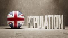 United Kingdom. Population Concept. - stock illustration