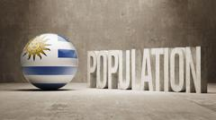 Uruguay. Population Concept. - stock illustration