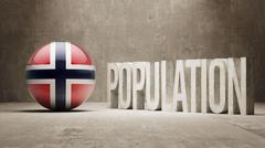 Norway. Population Concept. - stock illustration