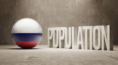 Russia. Population Concept. - stock illustration