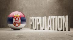 Stock Illustration of Serbia. Population Concept.