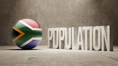 South Africa. Population Concept. - stock illustration