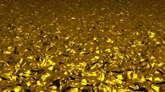 Abstract background in gold color - stock footage