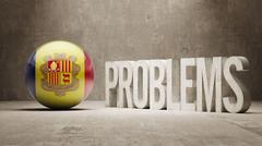Andorra. Problems Concept. Stock Illustration
