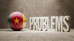 Cameroon. Problems Concept. - stock illustration