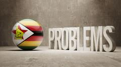 Stock Illustration of Zimbabwe. Problems Concept.