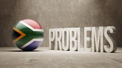South Africa. Problems Concept. Stock Illustration