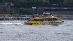 NYC Water Taxi Hodson river #131 - stock footage