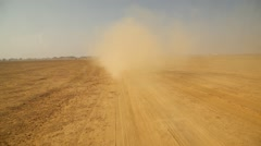 Chasing of vehicle in Desert Stock Footage