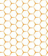 Vector seamless background. Backdrop. Empty honeycomb Stock Illustration