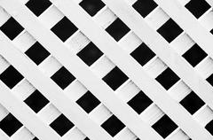 Lattice fence pattern Stock Photos