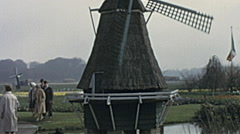 Holland 1963: wind mill - stock footage