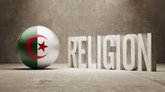 Stock Illustration of Algeria. Religion Concept.