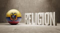 Ecuador. Religion Concept. - stock illustration