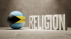 Stock Illustration of Bahamas. Religion Concept.